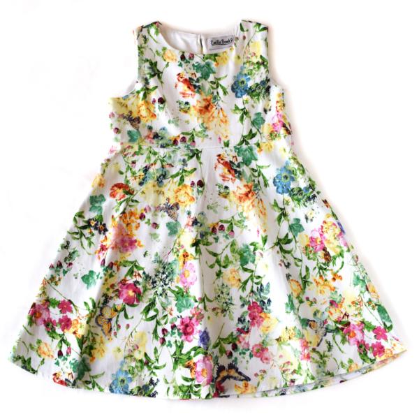 Robe imprimée fleurs | sacamode.com