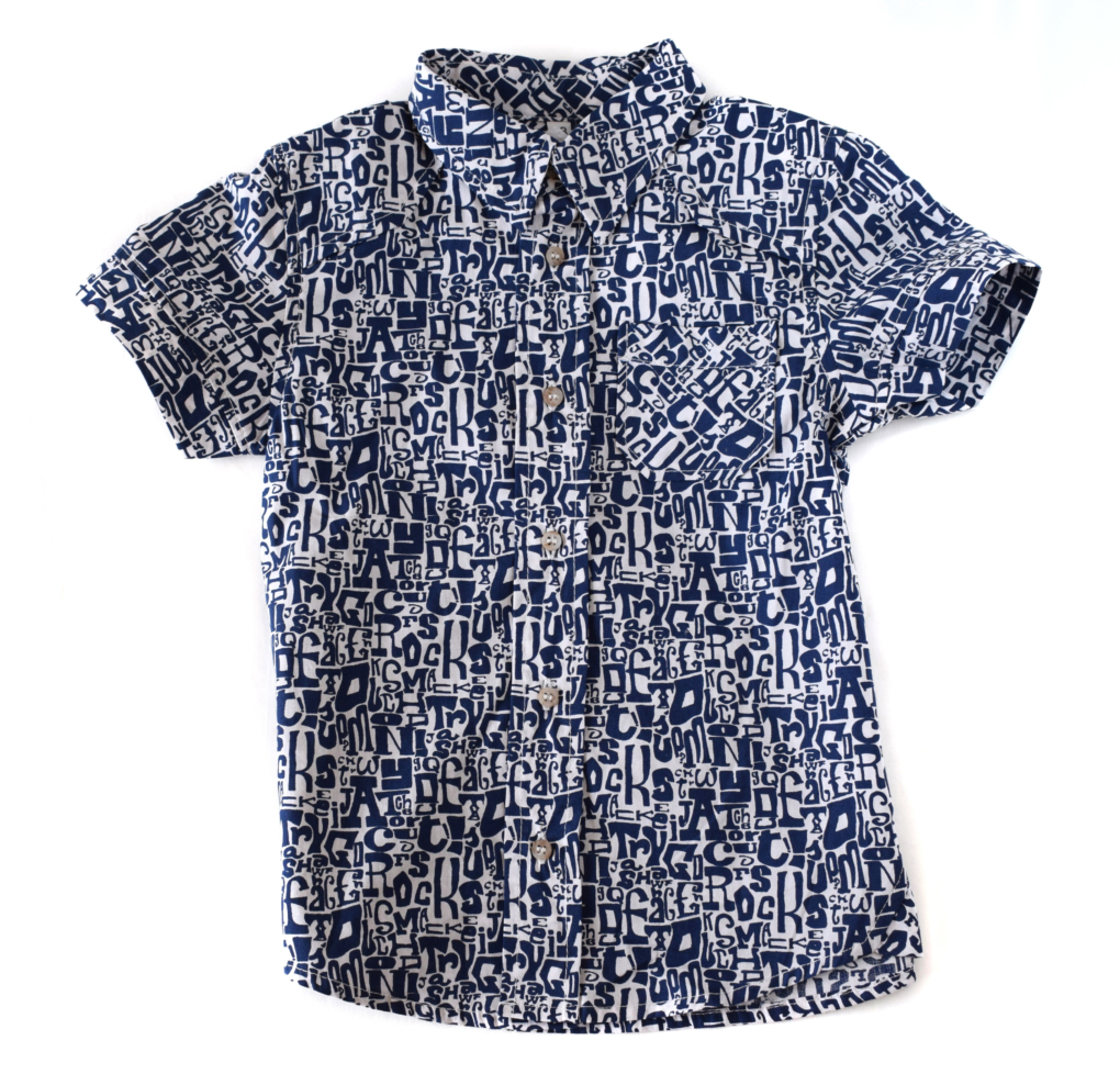 Chemise garçon imprimée | sacamode.com
